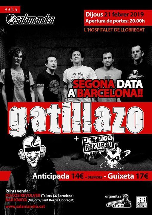 Gatillazo en Barcelona -segunda fecha Jueves 21-