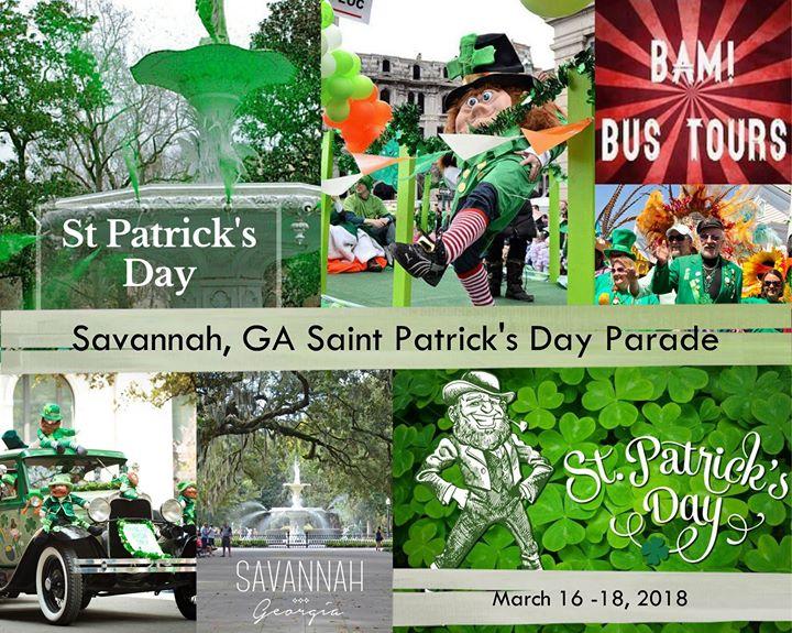 Savannah Ga Saint Patricks Day Parade March 16 18 2018
