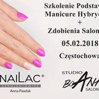 Brak miejsc  Szkolenie NaiLac manicure hybrydowy  zdobienia