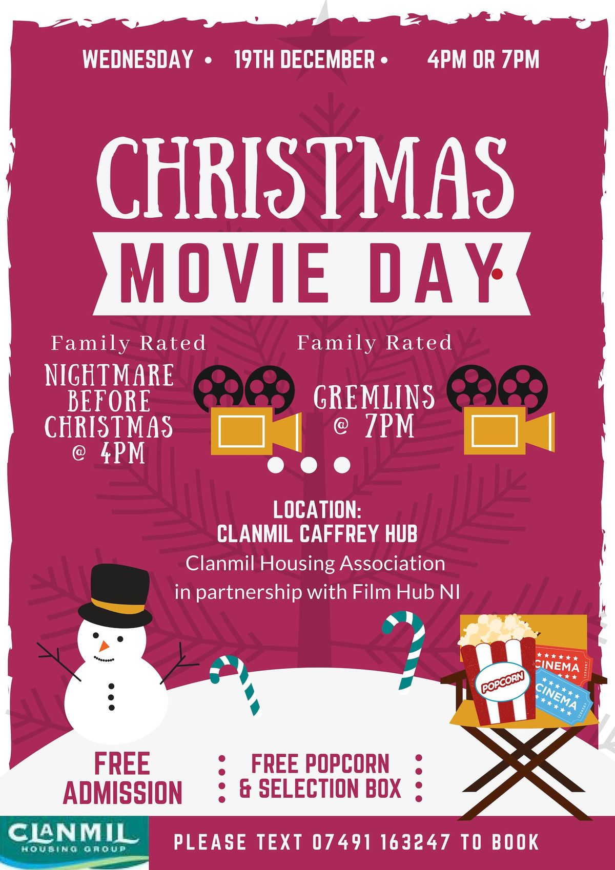 Copy of Clanmil present Christmas at the Movies - GREMLINS 7PM