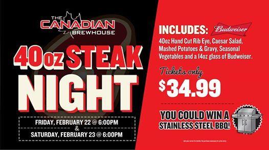 40oz Steak Night