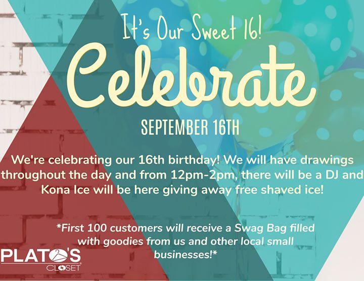 Sweet 16 Celebration At Plato S Closet Greensboro Greensboro