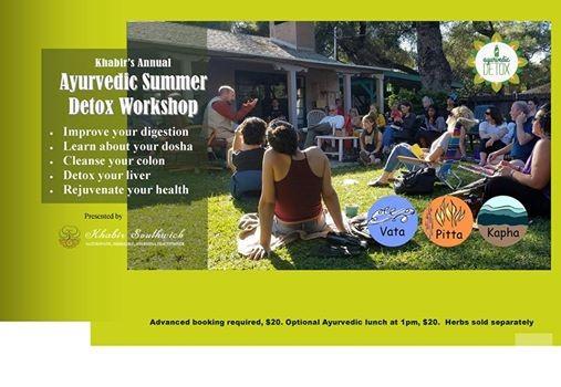12 day Workshop Individualized Ayurvedic Summer Detox