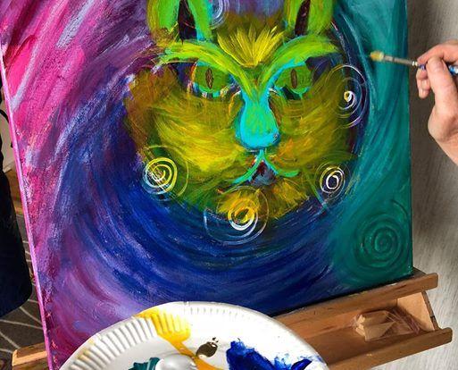 Oppen Studio Eget Maleri Under Individuell Handledning