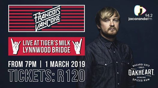 Francois van Coke LIVE - Tigers Milk Pretoria(Lynnwood Bridge)