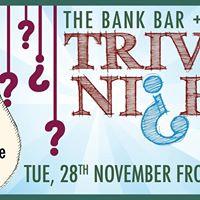 The Bank Bar Trivia Night
