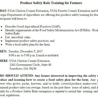 Produce Safety Rule Training for Farmers