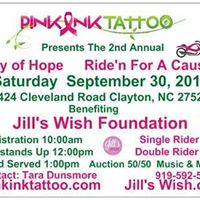 Pink Ink Tattoos Day of Hope Riden For A Cause