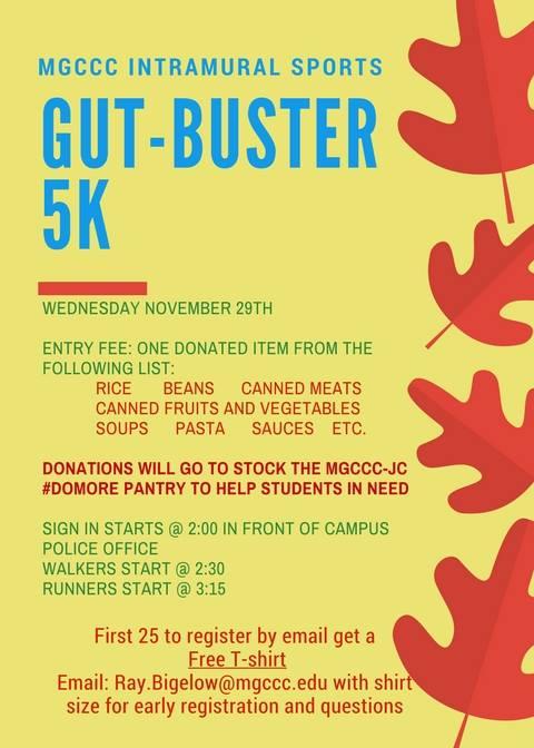 Gut Buster 5k Run Walk At Mgccc Jackson County Campus Student Life