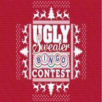 Ugly Christmas sweater and bingo contest