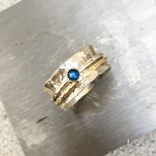 Make a Sterling Silver Spinning Ring - 110