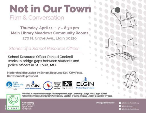 Not In Our Town: Film & Conversation at Gail Borden Public
