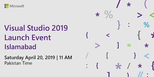 Visual Studio 2019 Launch Event - Islamabad