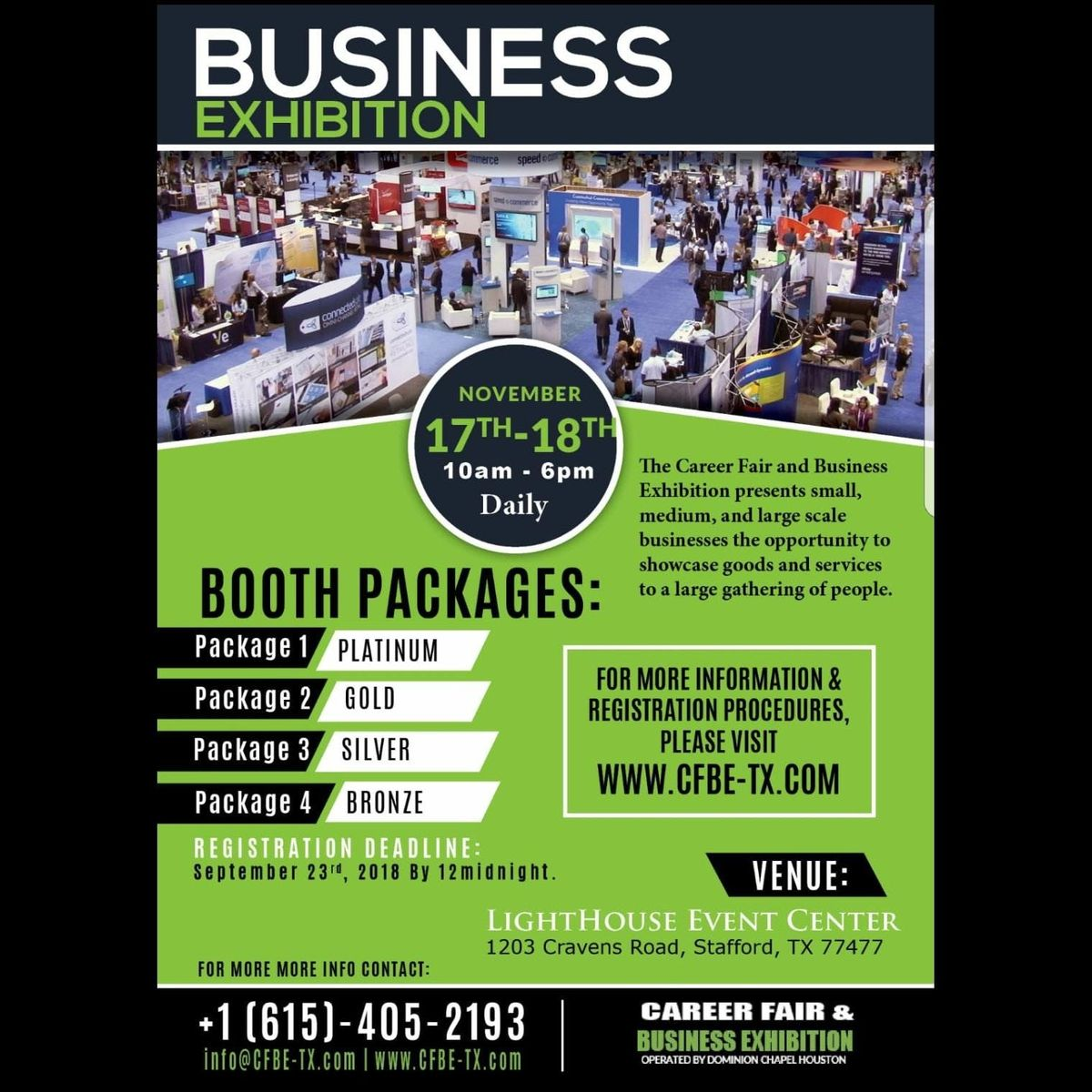 FREE TO ATTEND Job Fair & Business Exhibition