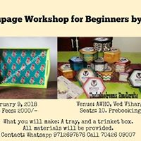Beginners Decoupage Workshop in Hyderabad