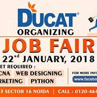 Job Fair at Ducat for B-tech M-tech B.E MCA Freshers Student