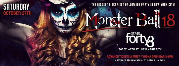 The Monster Ball 2018 - NYCs Biggest Halloween Weekend Party