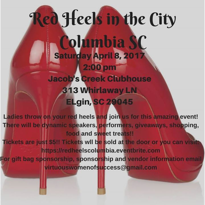 Red Heels in the City - Columbia SC at 313 Whirlaway Ln, Elgin, SC