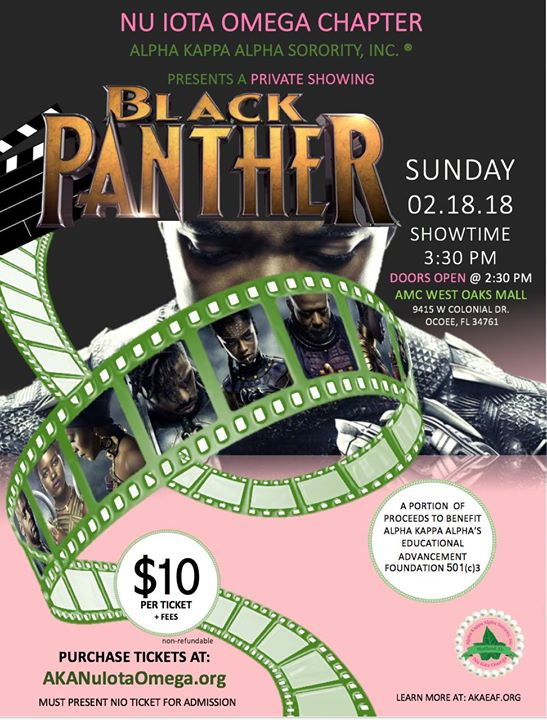 Black Panther - EAF Fundraiser at AMC Theatres-West Oaks 14, Ocoee