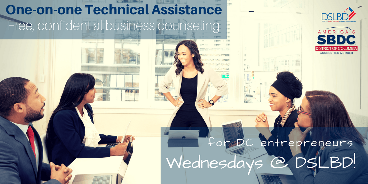 DC SBDC Counseling Winter Wednesdays  DSLBD