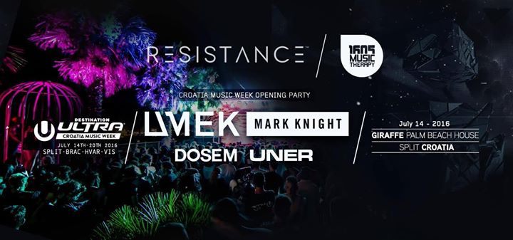 Resistance Croatia Music Week Opening Party