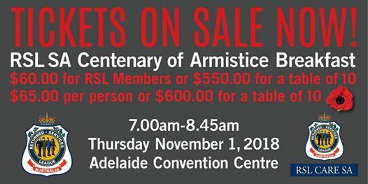 Centenary of Armistice Breakfast