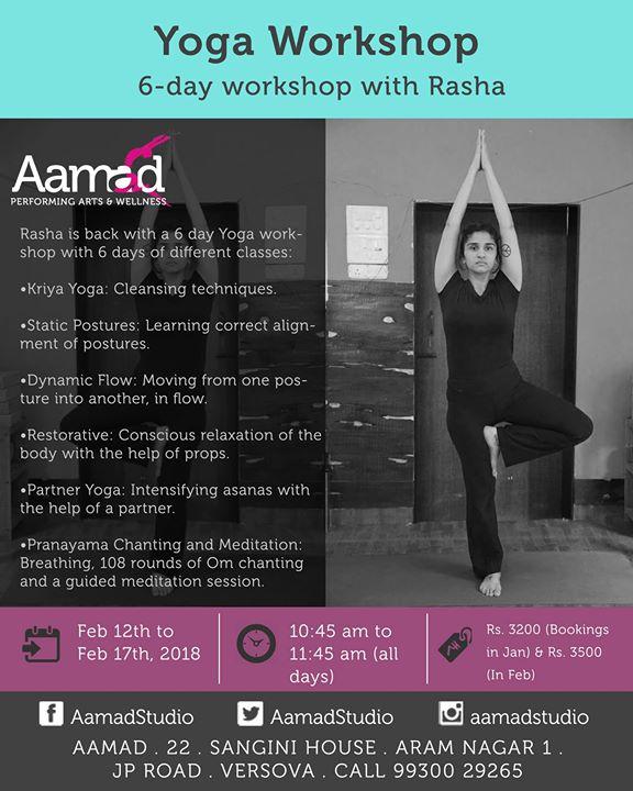 6- Day Yoga Workshop with Rasha