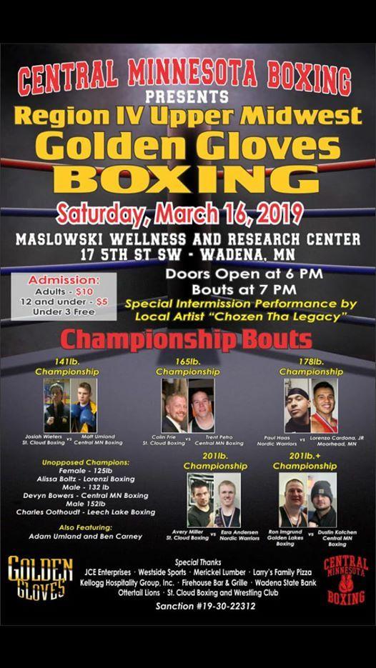 Region IV Upper Midwest Golden Gloves Championship at Wadena