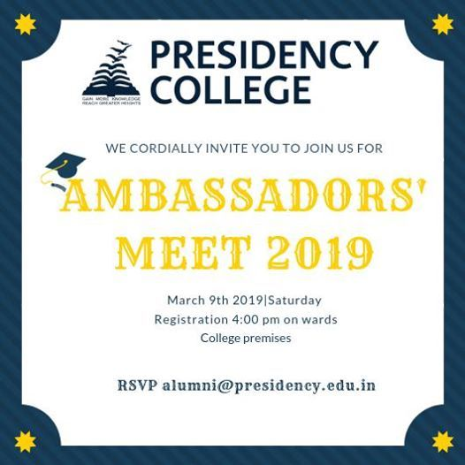 Ambassadors MEET 2019 (Alumni meet)