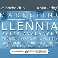 Sales Avalanche Marketing to Millennials &amp 1st Time Homebuyers