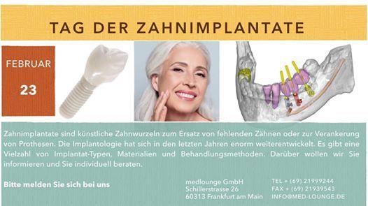 Tag der Zahnimplantat
