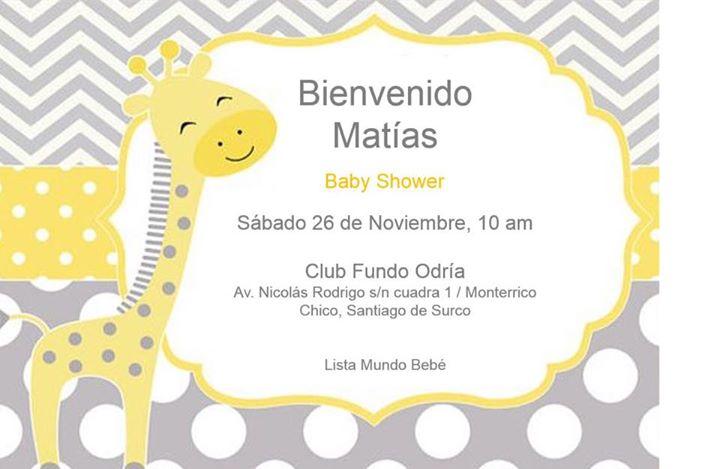 Baby Shower Matas Depoorter Carpio At Fundo Odra Monterrico Lima