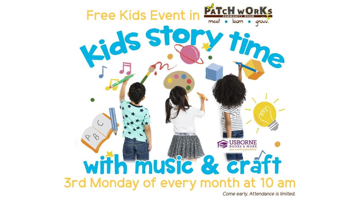 Free Kids Event Kids Story Time with Music  Craft
