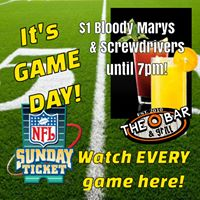 NFL SUNDAY WITH AMAZING FOOD AND DRINK SPECIALS AT THE O BAR IN CAPE CORAL