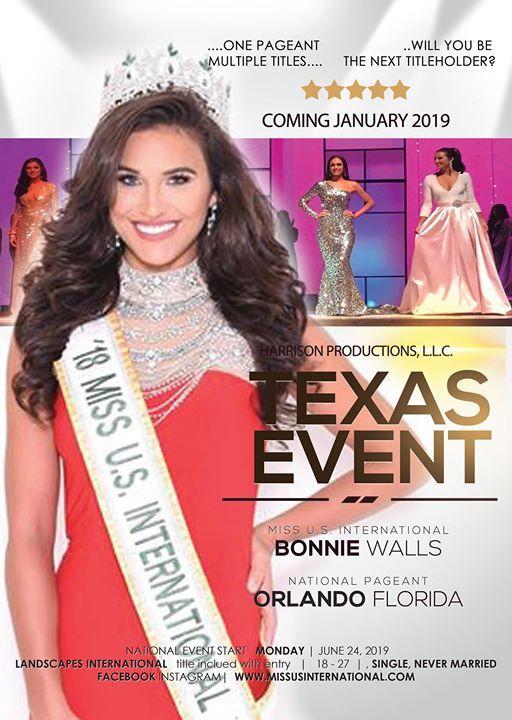 Miss Texas U S  International at Ramada Dallas Love Field, Dallas