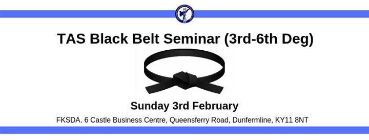 TAS Black Belt Seminar (3rd-6th Degree)