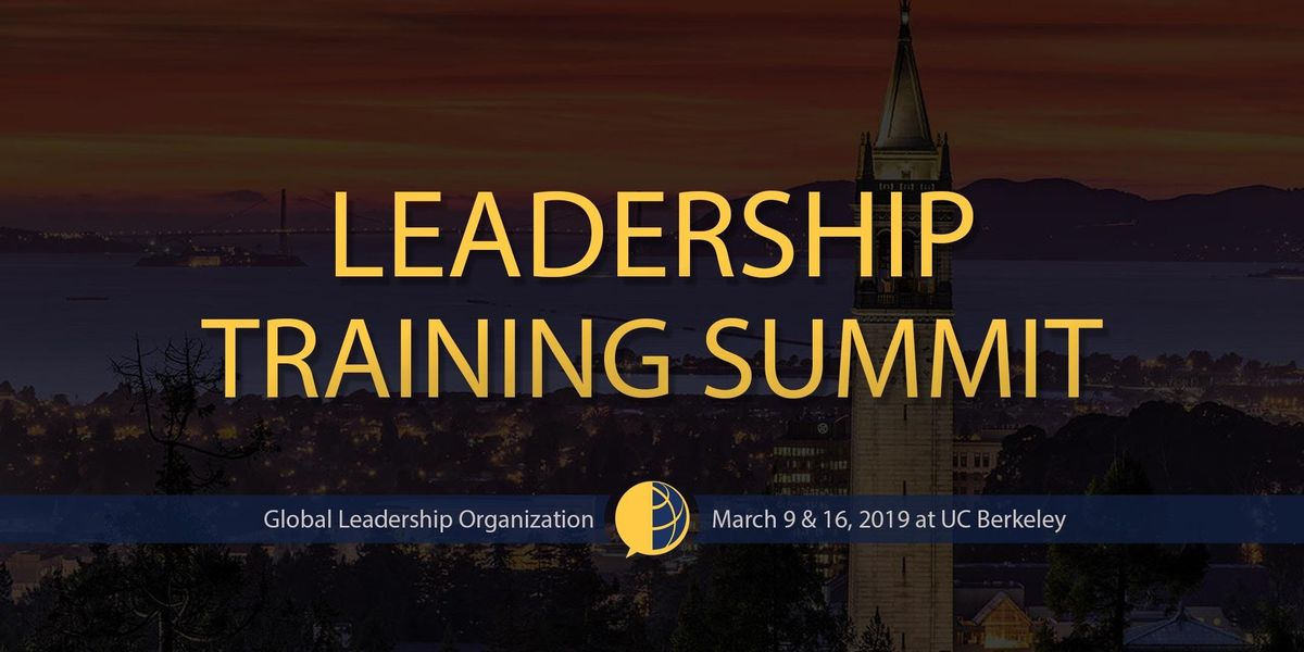 GLO Leadership Training Summit at UC Berkeley Spring 2019