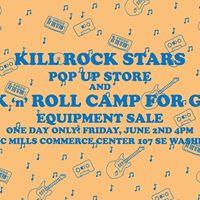 Kll Rock Stars x Rock n Roll Camp For Girls pop-up store