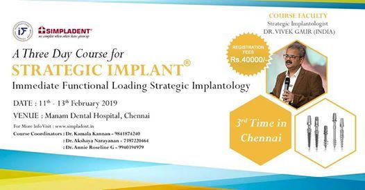 3-Day Session on Immediate Functional Loading Basal Implantology