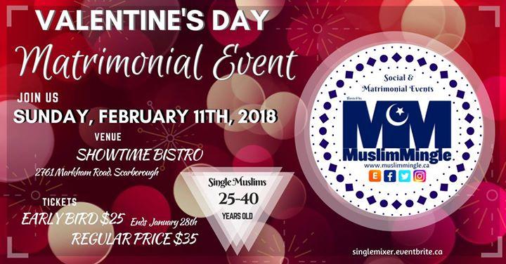 Matrimonial Event at Showtime Bistro, Toronto