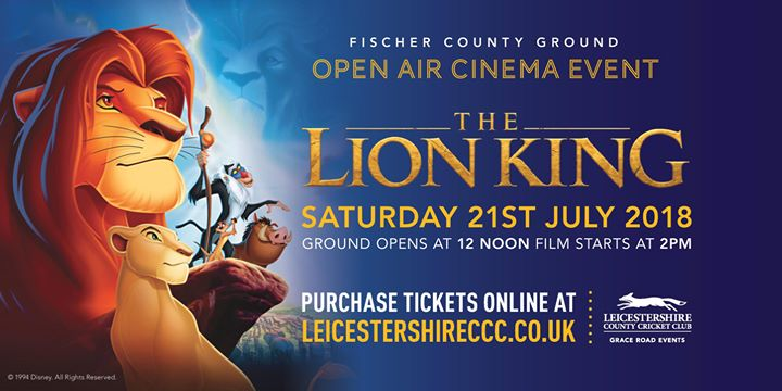 LCCC Open Air Cinema Event- The Lion King