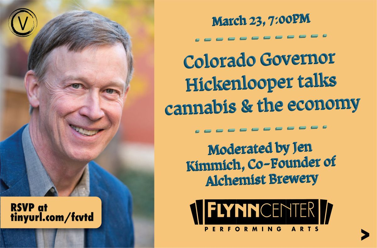 Colorado Governor John Hickenlooper talks Cannabis and the Economy
