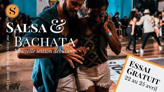 Essai gratuit Salsa & Bachata  Du 22 au 25 avril 2019