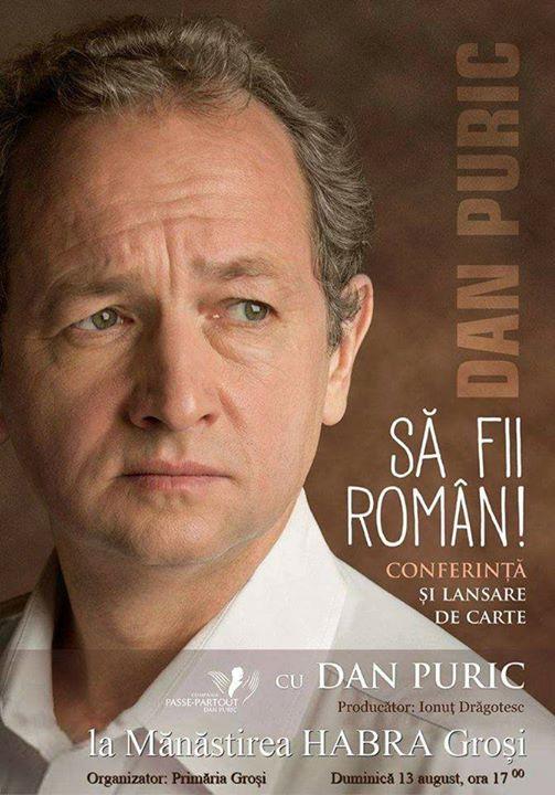S FII Romn Dan Puric - Conferin i lansare de carte.