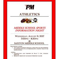 Pat-Med Middle School Sports Info Night