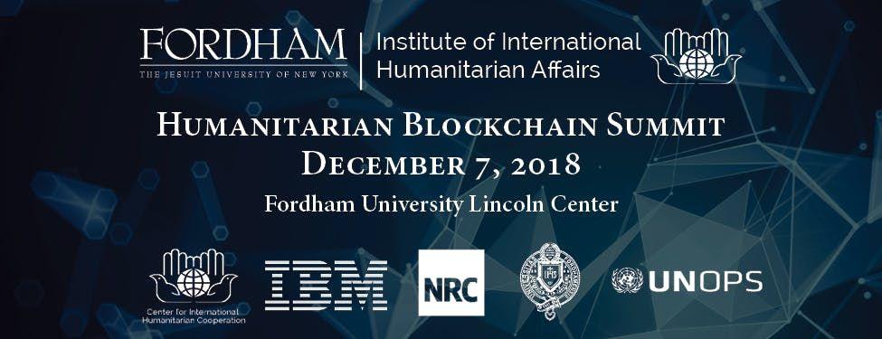 Humanitarian Blockchain Summit