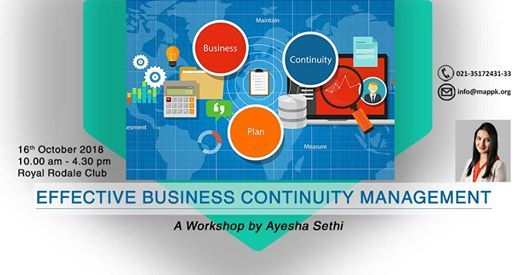 Effective Business Continuity Management