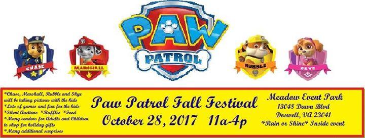 Paw Patrol Fall Festival