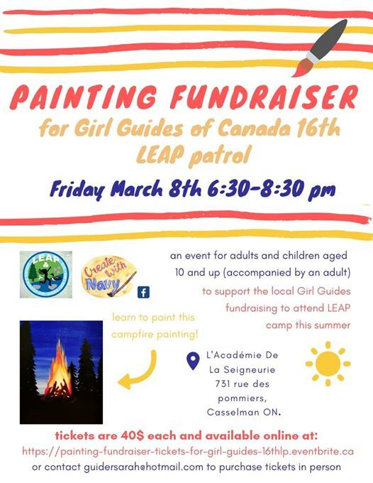 Painting Fundraiser for Girl Guides of Canada 16th LEAP patrol