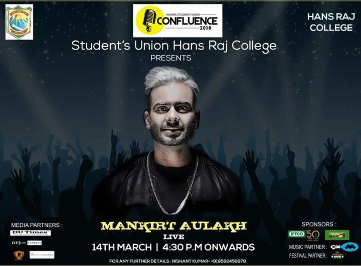 Mankrit Aulakh Live in Concert Hansraj College  DU